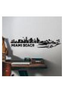 Adesivo De Parede Cidade Miami Beach - P 22X98Cm