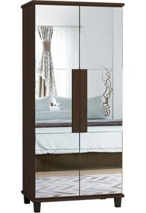 Sapateira Com Espelho Requinte Noce - Rv Móveis