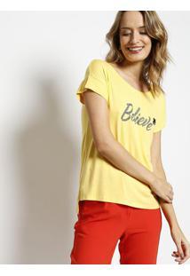 Blusa Em Boton㪠- Amarela & Cinza - Malweemalwee