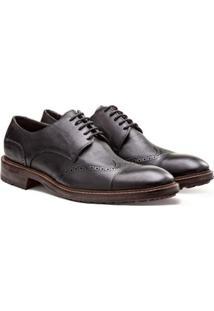 Sapato Casual Brogan Brogue Worth Masculino - Masculino-Preto