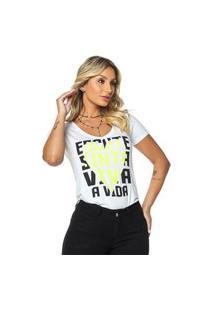 T-Shirt Daniela Cristina Gola V Profundo 01 602Dc10301 Branco
