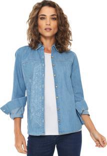 3431bc4d14 Camisa Azul Enfim feminina