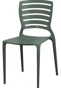 Cadeira Sofia Vazado Horizontal Polipropileno Grafite - 5995 Sun House