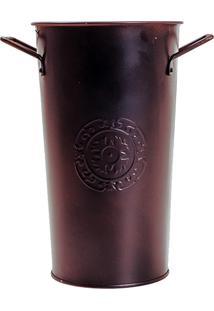 Cachepô Galvanizado Com Acabamento Em Bronze - Orb