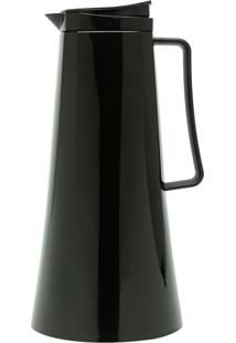 Garrafa Térmica De Plástico Com Gatilho Kate Preta 1L Bon Gourmet