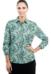 Camisa Love Poetry Estampada Verde