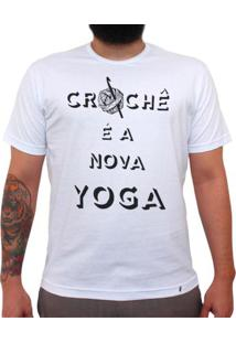Crochê É A Nova Yoga - Camiseta Clássica Masculina