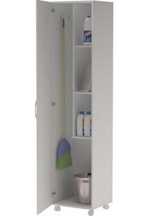 Armário Multiuso 1 Porta Bs 03 Branco - Brv Móveis