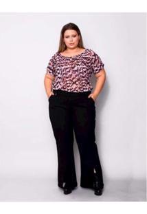 f367305f63 ... Blusa Plus Size Palank Casa Rosada Feminina - Feminino-Rosa