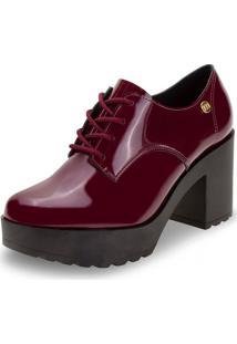 Sapato Feminino Oxford Moleca - 5647211 Vinho 34