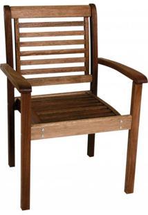 Cadeira Empilhável Com Braços Milano Mestra Móveis Nogueira