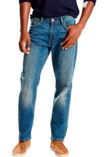 Calça Jeans Levi'S Athletic Taper Médio Masculina - Masculino-Azul