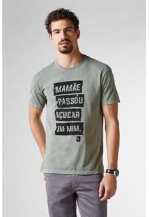 dc6da5a000 Camiseta Manga Longa Militar masculina. Camiseta Reserva Pf Estampada  Açucar Em Mim Masculina - Masculino-Verde Militar