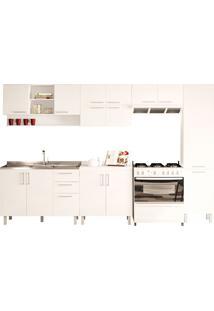 Cozinha Compacta Com 6 Peças Floripa 19-Politorno - Branco