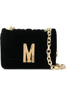 Moschino Monogram Quilted Shoulder Bag - Preto