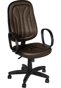 Cadeira Presidente Base Giratã³Ria C/ Bra Marrom - Marrom - Dafiti