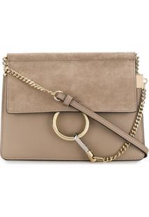 Chloé Mini Faye Chain Shoulder Bag - Cinza