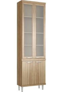 Paneleiro Com Porta De Vidro 70Cm 5121 Sicília Multimóveis Argila