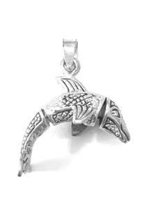 Pingente Golfinho De Prata - Feminino-Prata