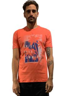 Camiseta 775 Enjoy - Coral