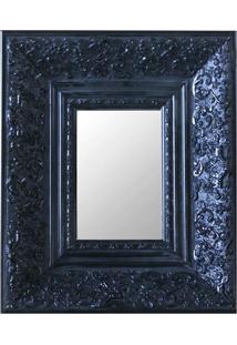 Espelho Moldura Rococó Fundo 16152 Preto Art Shop