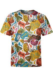 Camiseta Estampada Over Fame Drinks E Cocktail Branca