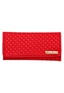 Carteira Matelassê Casual Belle Comfort Style Vermelho