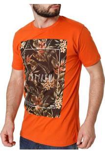 Camiseta Manga Curta Masculina Laranja
