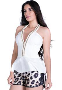 Blusa Zigma Peplum Off-White