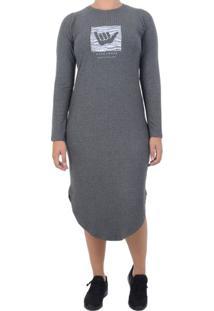 Vestido Hang Loose Tracy - Chumbo / P