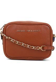 Bolsa Couro Jorge Bischoff Mini Bag Basic Feminina - Feminino-Caramelo