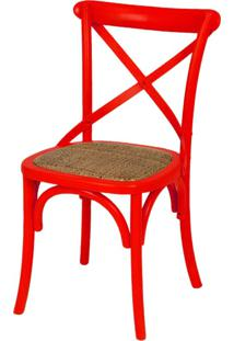 Cadeira Cross Or-1150 – Or Design - Vermelho