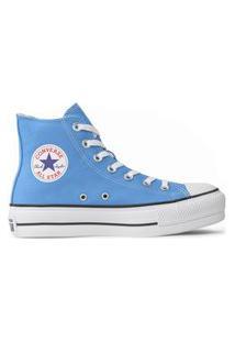 Tênis Converse Chuck Taylor All Star Seasonal Lift Hi Azul Claro Ct12000037.33