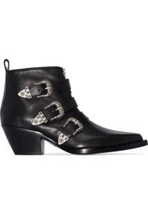 R13 Ankle Boot Com Detalhe De Fivela - Preto