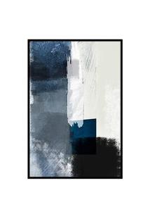 Quadro 90X60Cm Abstrato Textura Geruzak Moldura Preta Com Vidro Oppen House