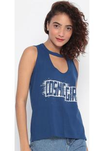 "Blusa ""Cosmic Girl""- Azul & Off White- Malweemalwee"