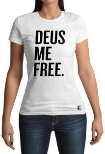 Camiseta Hunter Deus Me Free Branca