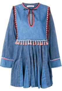 Philosophy Di Lorenzo Serafini Tassel Detail Dress - Azul
