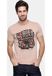 Camiseta Triton Mesclada Rock Festival - Masculino