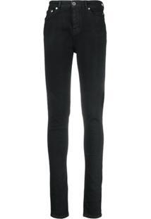 Rick Owens Drkshdw Slim Fit Jeans - Preto