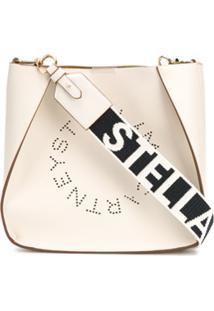 Stella Mccartney Stella Logo Shoulder Bag - Branco