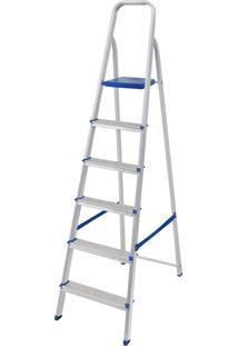 Escada Alumínio 6 Degraus 5104 Capacidade De 120Kg - Mor