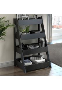 Estante Para Livros Escada 1001 Life Carbono Trama - Bentec