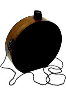 Bolsa La Madame Co Clutch Redonda Black - Tricae