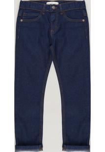 Calça Jeans Infantil Slim Azul Escuro