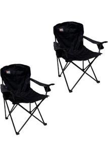 Kit 2 Cadeiras Dobráveis Com 2 Posta Copos Pandera Nautika - Unissex