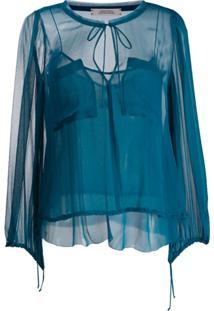 Dorothee Schumacher Blusa Com Bolso - Azul