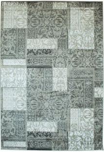 Tapete Modern Patch Retangular Viscose (100X140) Cinza