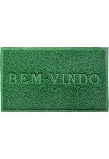 Capacho Bem Vindo Pvc 60X40 Verde - Camesa