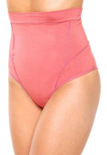 Calcinha Love Secret Alta Abdominal Soft Shape Rosa - Kanui